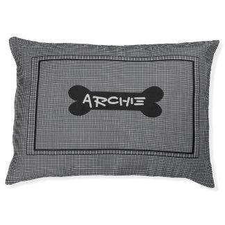 Black And Grey Custom Indoor Dog Bed - Large