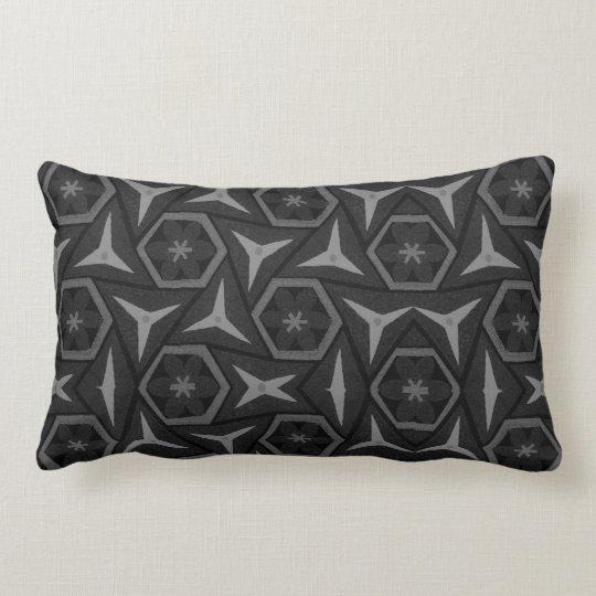 Black  and Grey  Design Lumbar  Pillow