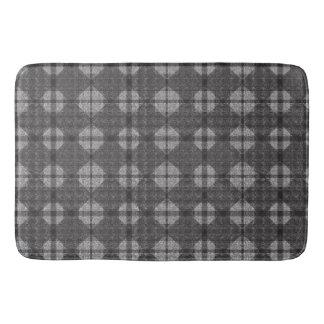 Black and Grey Diamonds Bath Mat