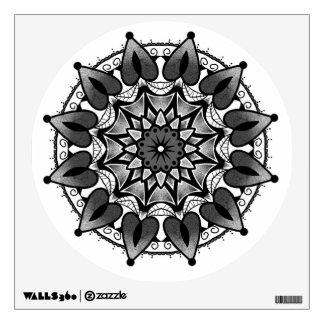 Black and grey mandala wall sticker
