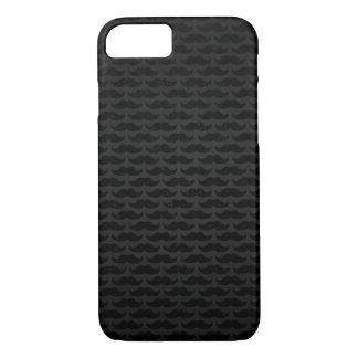 Black and grey moustache pattern iPhone 7 case