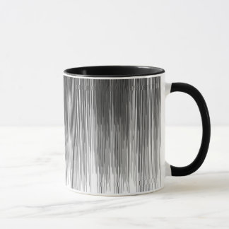 Black and Grey Paint Drips on White Mug