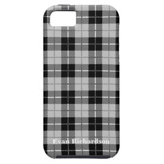 Black and Grey Plaid iPhone 5 Case