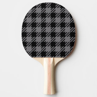 Black and Grey Plaid Pattern Ping Pong Paddle