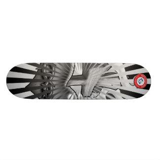 Black and Grey Sacred Heart Skate Board Deck