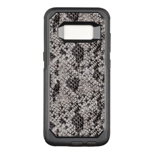 Black and Grey Snake Skin OtterBox Commuter Samsung Galaxy S8 Case