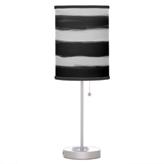Black and Grey Stripes Table Lamp