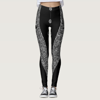 Black and Grey Tux Leggings