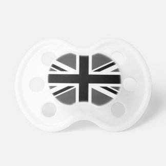 Black and Grey Union Jack Pacifier