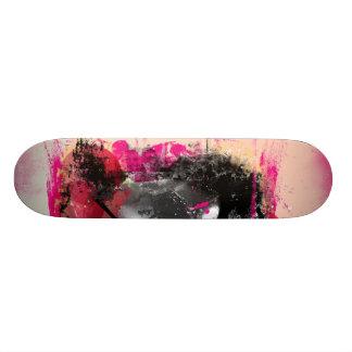 Black and hot pink grunge deck skateboards