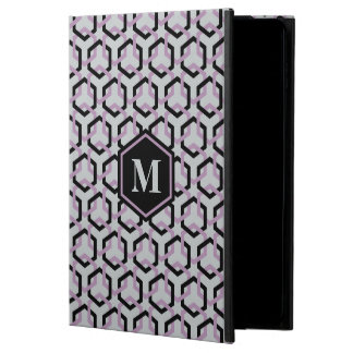 Black and Lavender Hexes iPad Case