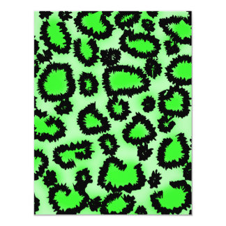 Black and Lime Green Leopard Print Pattern. Announcement