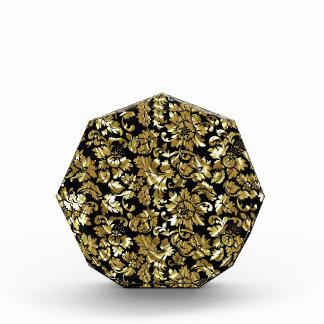 Black And Metallic Gold Vintage Damasks