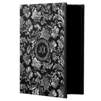 Black And Metallic Silver Floral Damasks Powis iPad Air 2 Case