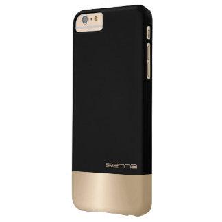 Black and Nacre Metallic iPhone 6/6s Plus Case