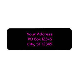 Black and Neon Pink Return Address Label