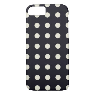 Black And Off White Chic Polka Dot iPhone 7 Case