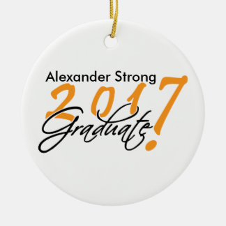 Black and Orange 2017 Graduation Ornament