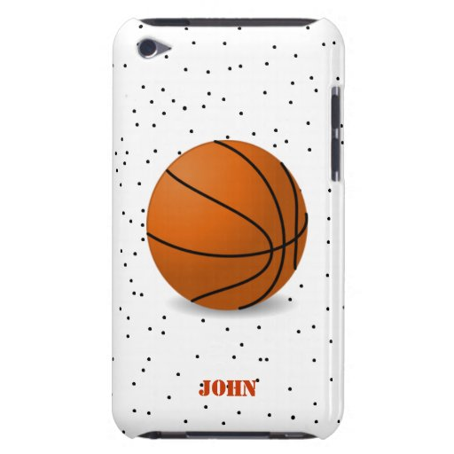 Black and Orange Basketball iPod Touch Case