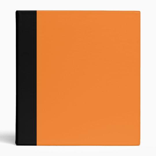 Black and Orange Binder