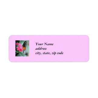Black and Orange Butterfly Labels