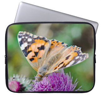 Black and Orange Butterfly on Flower Computer Sleeves