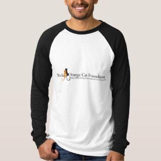 Black and Orange Cat Foundation Logo T-shirt