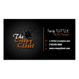 Black and Orange Creepy Business Card