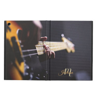 Black and Orange Electric Guitar Monogram iPad Air Cover