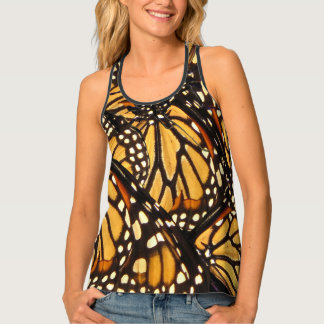 Black and Orange Monarch Butterfly Animal Tank Top