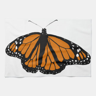 Black and Orange Monarch Butterfly Hand Towels
