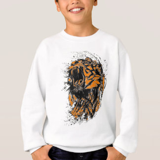 Black and orange neon tiger sweatshirt