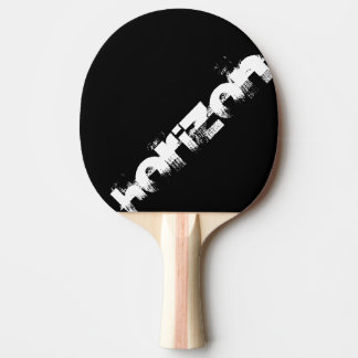 black and orange racket to personalize horizon ping pong paddle
