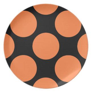 Black and Orange Retro Plate