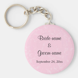Black and Pastel Pink with Subtle Pattern Wedding Keychain