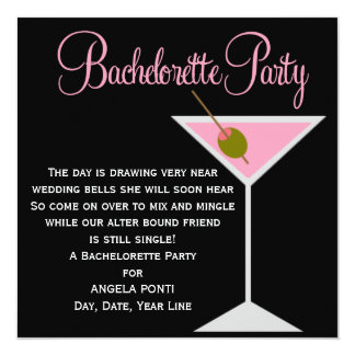 Black and Pink Bachelorette Card