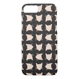 Black and Pink Cat Pattern Phone Case