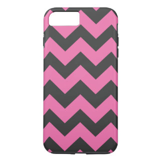 Black and Pink Chevron Pattern iPhone 7 Plus Case
