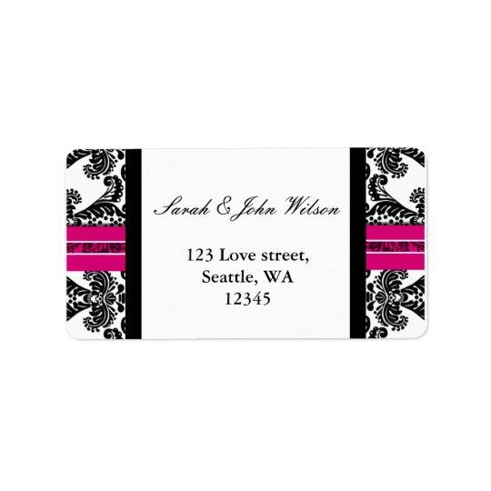Black and Pink Damask Wedding