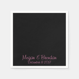 Black and Pink Disposable Napkin