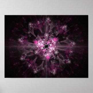 Black And Pink Fractal Poster