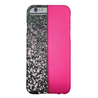 Black and Pink Glitter iPhone 6 case Barely There iPhone 6 Case