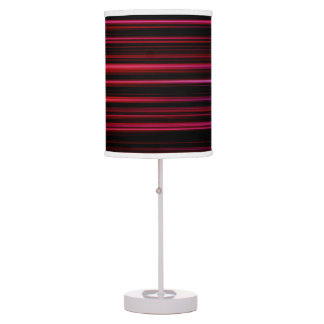 Black and Pink Gradient Stripes Table Lamp