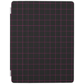 Black and Pink Graph Paper iPad Cover