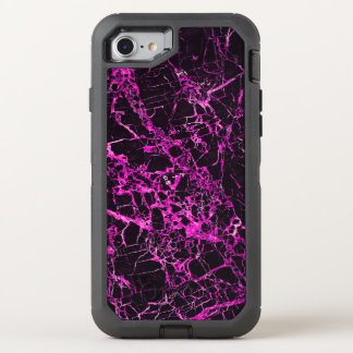 Black and Pink Marble, OtterBox Defender iPhone 7 Case