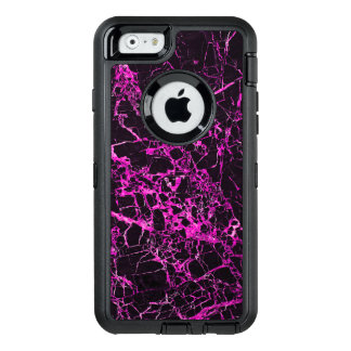 Black and Pink Marble, OtterBox Defender iPhone Case