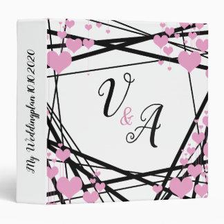 Black and Pink Monogram Decoration Binders