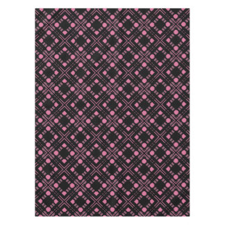 Black and pink plaid tablecloth