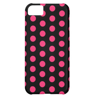 Black and Pink Polka Dots iPhone 5C Cover