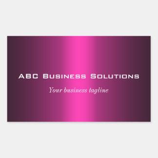 Black and Pink Rectangular Business Sticker